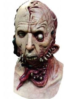 Alienmutant Parasit Halloween-Maske haut-rot