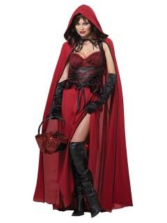 Böses Rotkäppchen-Damenkostüm Faschingskostüm schwarz-rot