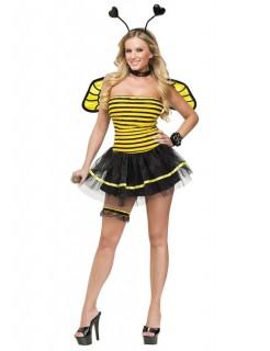 Biene Damen Kostüm gelb-schwarz