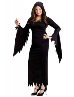 Zauberin Hexe Damenkostüm Plus Size schwarz