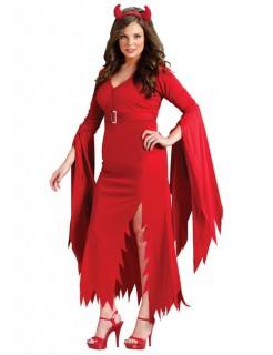 Gothic Teufel Halloween Damenkostüm übergrösse rot