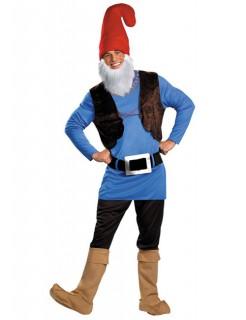 Zwerg Kostüm Märchen blau-rot