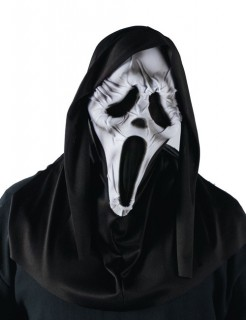 Deluxe Scream Halloween Maske schwarz-weiss