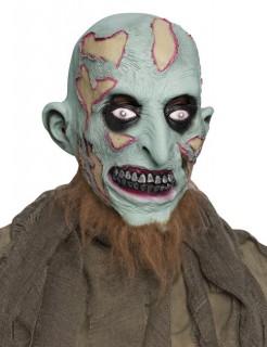 Zombie Halloween Maske grün