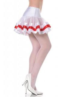 Petticoat Unterrock weiss-rot