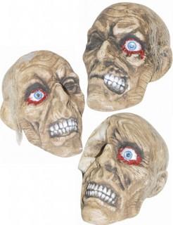 Verwesende Totenschädel Halloween Deko beige 18x11x19cm