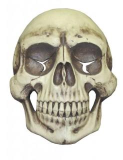 Riesen-Totenkopf-Dekoration für Halloween beige 78 x 58 cm