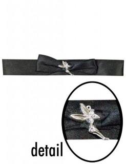 Halsband mit Fee schwarz-silber