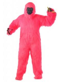 Pinker Gorilla Affen Kostüm pink-schwarz