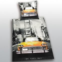 New York-Bettwäsche Taxi schwarz-weiss-gelb