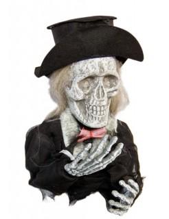 Skelett-Bräutigam Halloween-Gartendeko schwarz-weiss 25cm