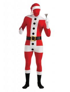Weihnachtsmann Second-Skin-Suit Kostüm schwarz-weiss-rot