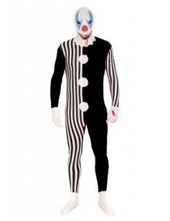 Halloween Morphsuit Killer Clown Halloween schwarz-weiss-rot