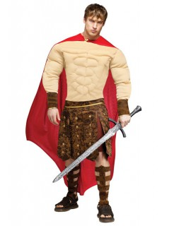 Gladiator Römer Kostüm beige-rot-braun