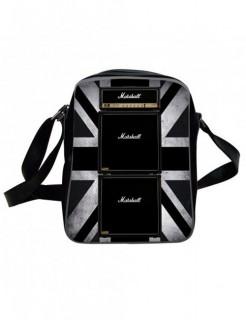 Marshall-Fliegertasche Lizenzware schwarz-silber 35x27x12cm