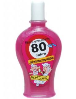 Shampoo Frisch gewaschene 80 Jahre Geschenkidee pink 350ml