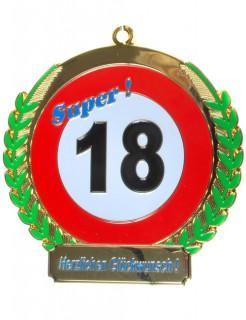 18. Geburtstag Orden Medaille Geschenkidee bunt 6,5 cm