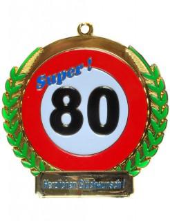 Orden zum 80. Geburtstag Geschenkidee bunt