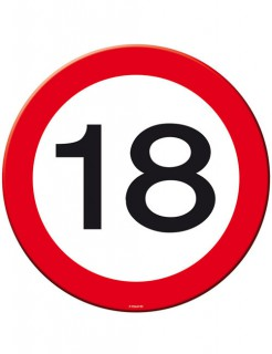 18. Geburtstag Platzdecken und Untersetzer 4 Stück rot-weiss-schwarz