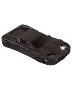 iPhone 4/4s Hülle Sportwagen-Design Smartphone-Zubehör schwarz 11,5x6x0,9cm