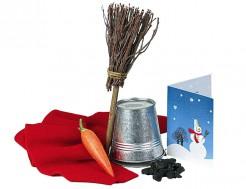 Schneemann-Bauset Weihnachts-Geschenk bunt