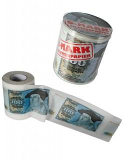 100 D-Mark Toilettenpapier Scherzartikel weiss-blau