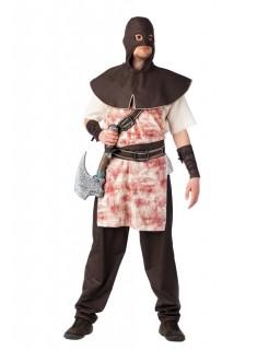 Henker Mittelalter Kostüm braun-weiss
