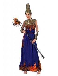 Exotische Prinzessin Damenkostüm gold-blau