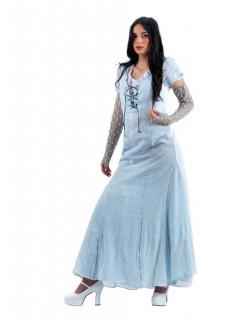 Mittelalter Magd Damenkostüm hellblau