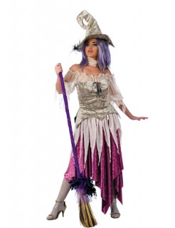 Edle Hexe Deluxe Damenkostüm flieder-silber