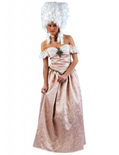 Barock Kleid Deluxe Damenkostüm Adlige rosa-weiss