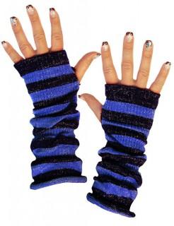Armstulpen Armwärmer dunkelblau-blau