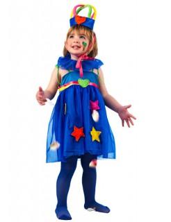 Prinzessin Kinderkostüm Märchen blau