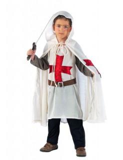 Kreuzritter Mittelalter Kinderkostüm weiss-rot