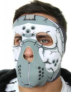 Motorradmaske Hockeymaske schwarz-grau
