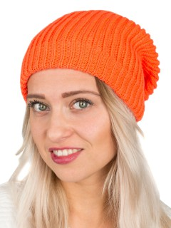 Long Beanie neon orange