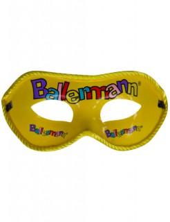 Venezianische Augenmaske Ballermann gelb