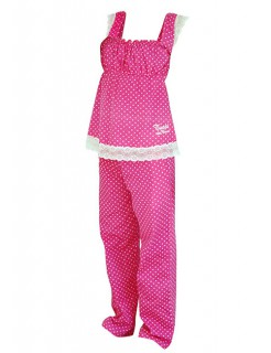 Tussi on Tour-Pyjama pink-weiss