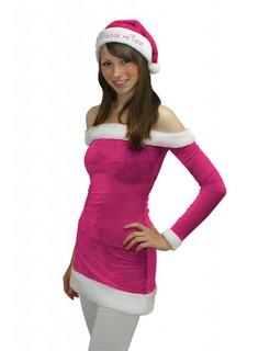 Tussi on Tour X-Mas Kleid Weihnachten pink-weiss