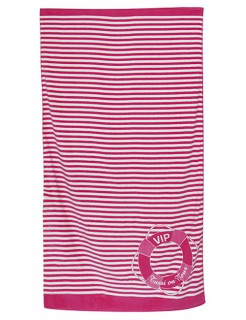 Tussi on Tour Strandtuch pink-weiss 90x180cm
