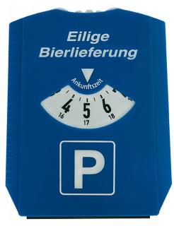 Parkuhr Eilige Bierlieferung Geschenkidee blau-weiss 12x15cm