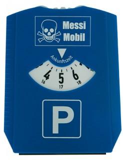 Parkscheiben-Scherzartikel Messi-Mobil blau-weiss