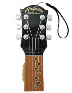 Elektrische Luftgitarre mit 10 Liedern braun-schwarz 23cm