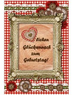 Grußkarte im Trachten-Design Herzlichen Glückwunsch zum Geburtstag Klappkarte bunt