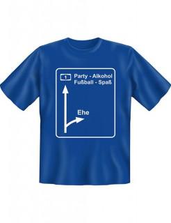 JGA T-Shirt Ausfahrt Ehe blau-weiss