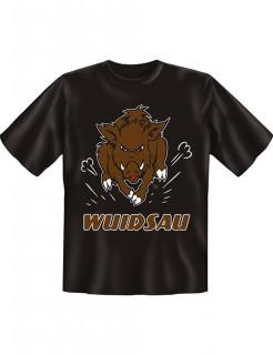 T-Shirt Wuidsau schwarz