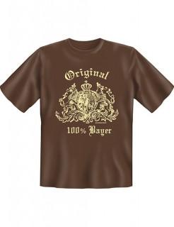 Fun T-Shirt 100 Prozent Bayer braun-beige