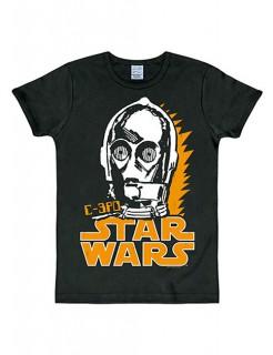 C-3PO-T-Shirt Star Wars™ Slim Fit schwarz-weiss-gelb
