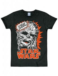Chewbacca-Shirt Star Wars™ Slimfit schwarz-rot-weiss