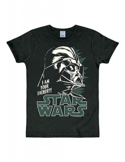 Star Wars™-T-Shirt Darth Vader Slim Fit schwarz-weiss-grün